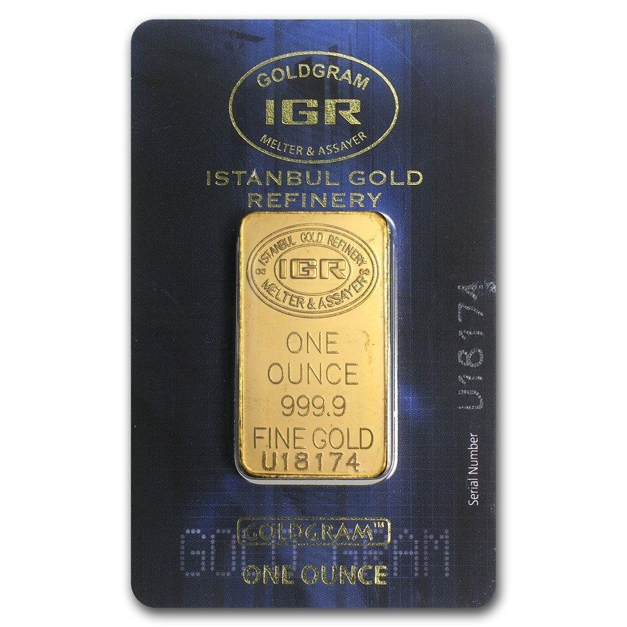 1 Oz Gold Bar Istanbul Gold Refinery In Assay Sku 170490 Gold Goldbar Gold Bars For Sale Gold Bar Gold
