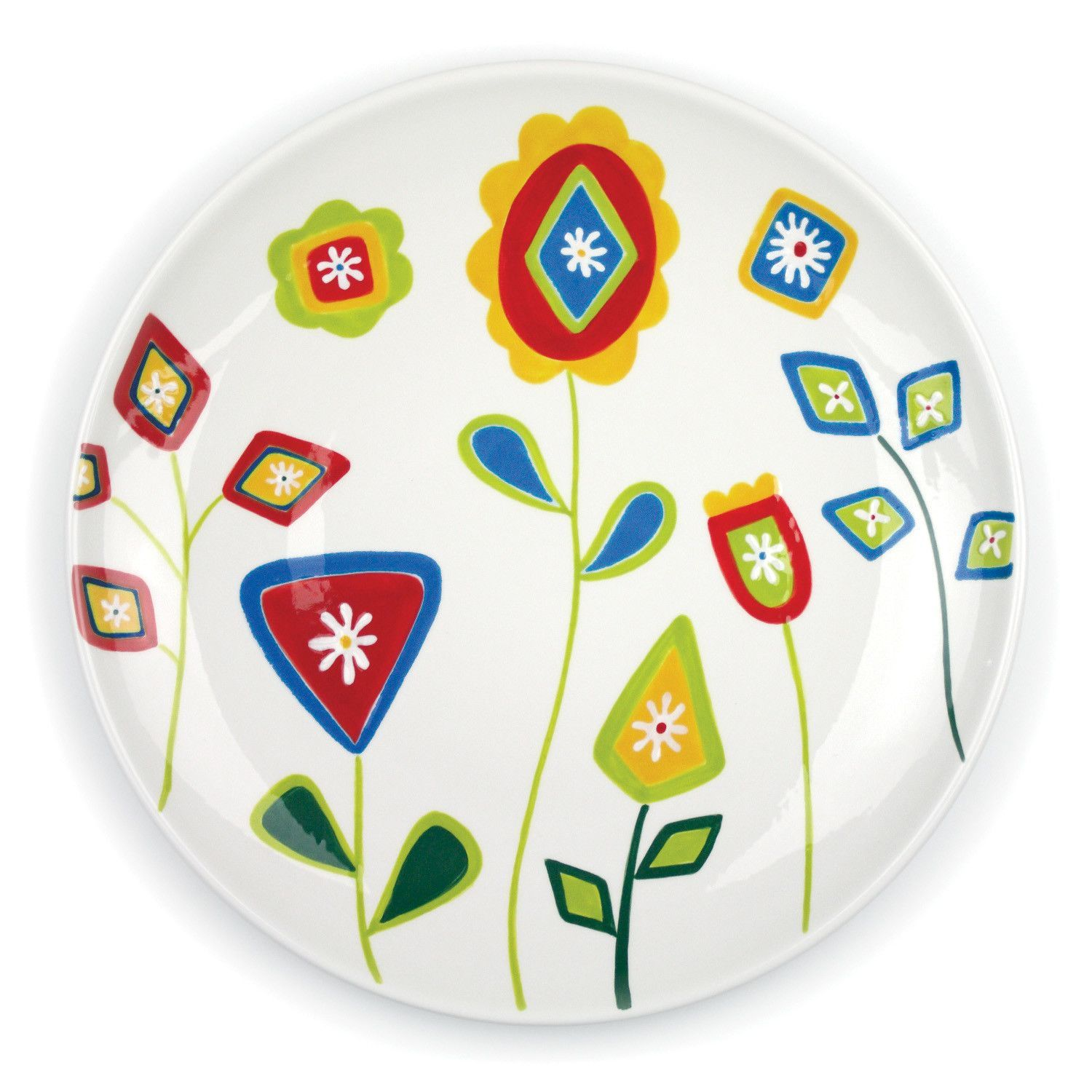 Features:  -Dishwasher and microwave-safe.  -Jardin Matisse collection.  Product Type: -Platter.  Color: -Multi.  Material: -Earthenware.  Pattern: -Floral. Dimensions:  Overall Width - Side to Side: