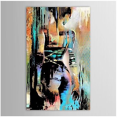 People Naked Back Figures Nude Oil Painting Wall Art Modern Canvas Art Wall