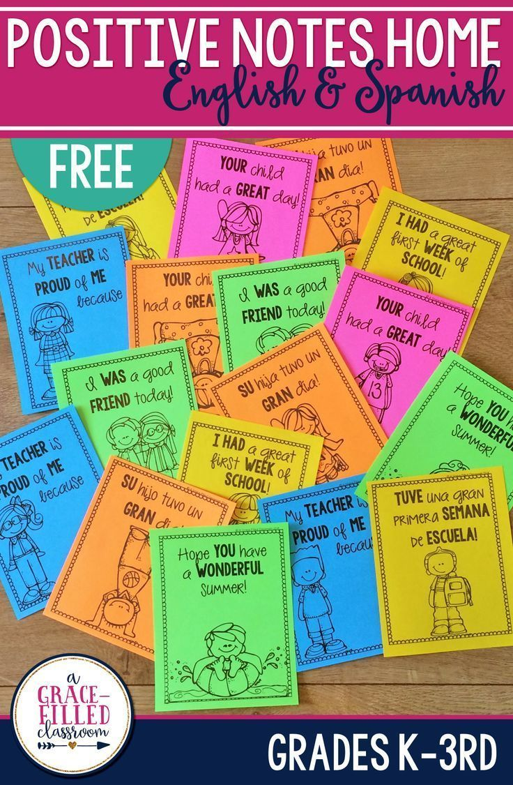 It's just a picture of Modest Printable Positive Notes Home for Parents