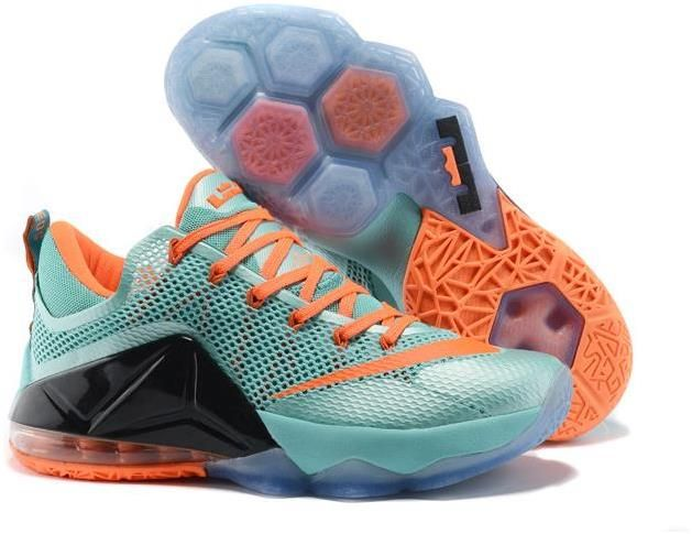 Authentic Nike Shoes For Sale Cheap Lebron 12 Low Black Orange Green -