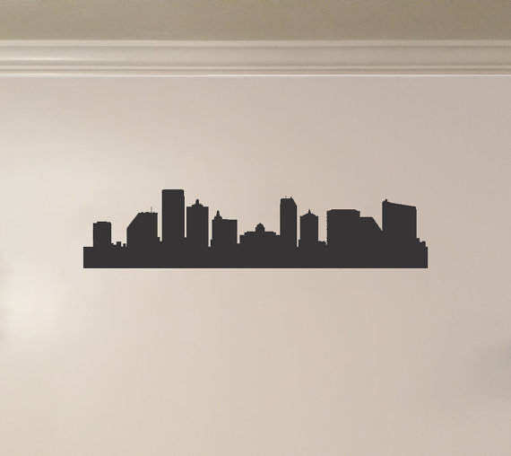Atlantic City New Jersey City Skyline Interior Wall Decal Etsy Wall Decals Interior Walls City Skyline
