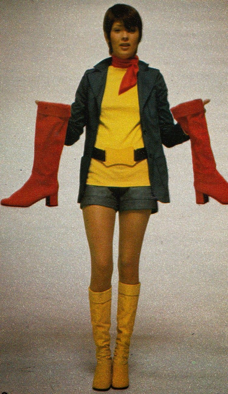 Georges rech francois villon boots red yellow knee high low heel