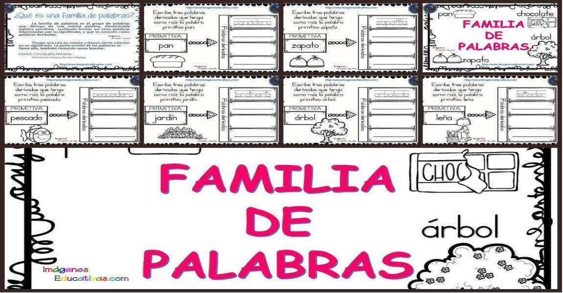 La Familia De Las Palabras Familia De Palabras Palabras Imágenes De Familia