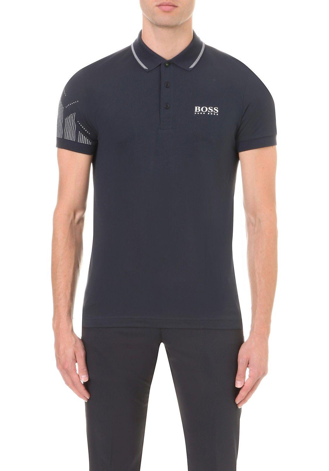 c3a882c17 BOSS GREEN - Logo-detail slim-fit cotton-jersey polo shirt | Selfridges.com