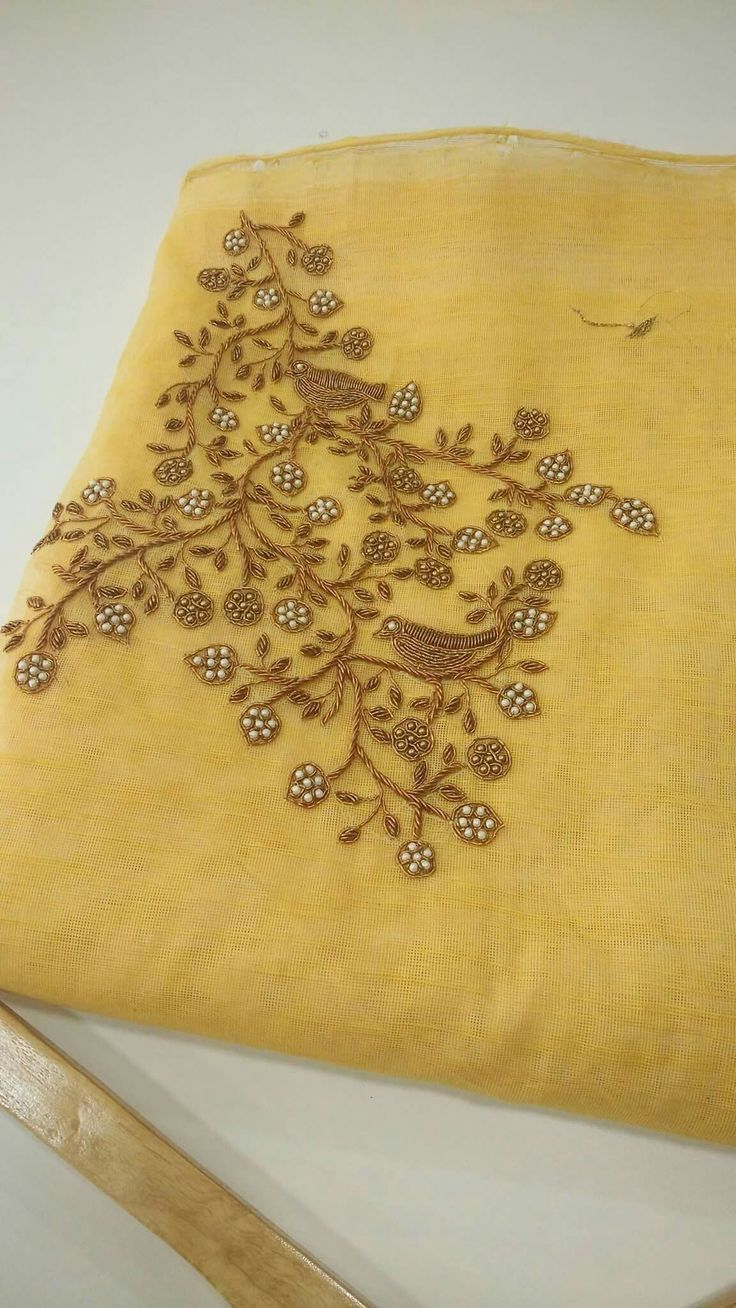 Simple Hand Embroidery Designs For Kurtis