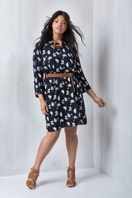 Printed Easy Tee Dress | Into the Groove Collection | Women's Plus Size Fashion | ELOQUII