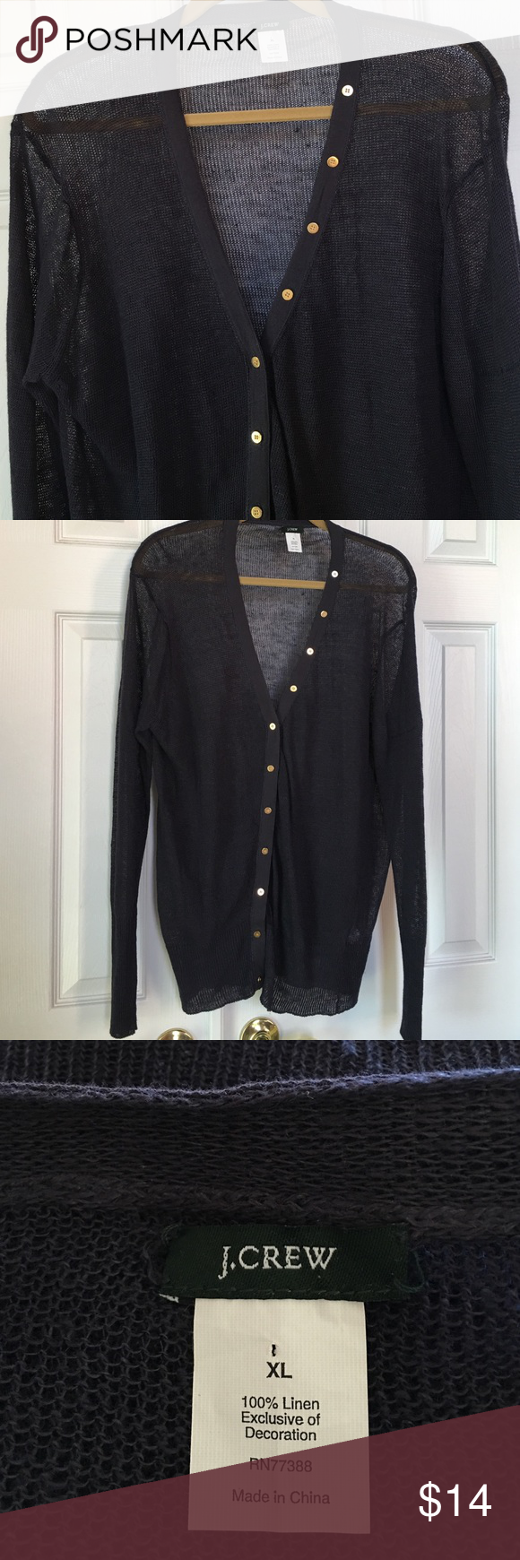 J.Crew Cardigan | Metal buttons, Linens and Conditioning