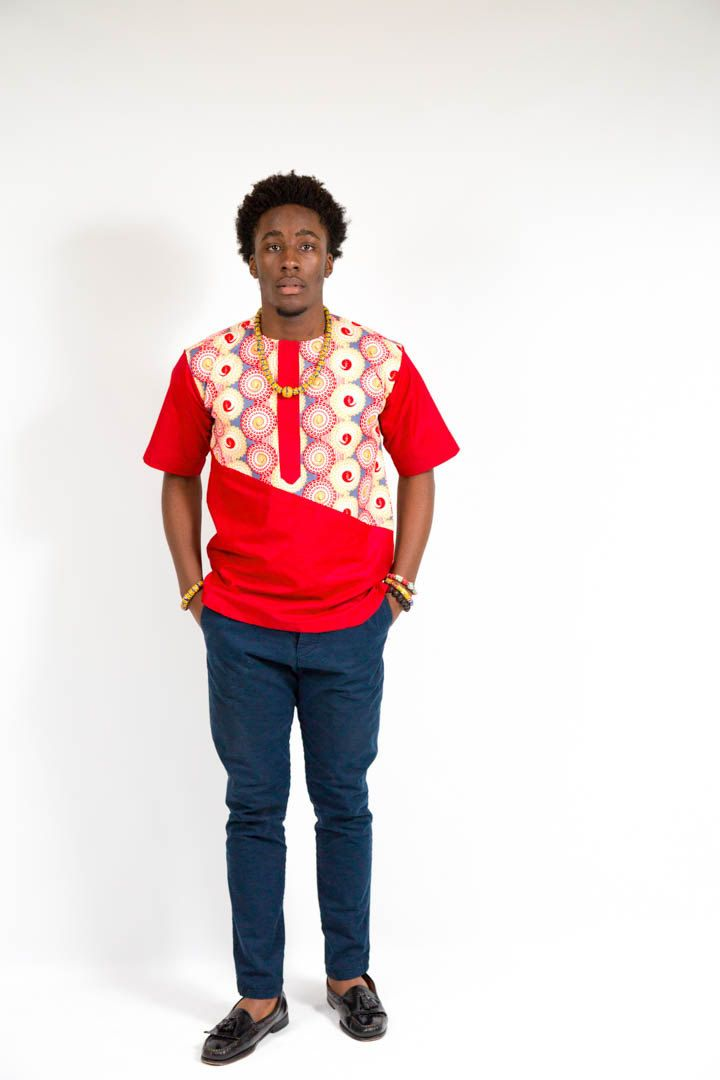 Red and White shirt by TashiaSimilaoCollec on Etsy