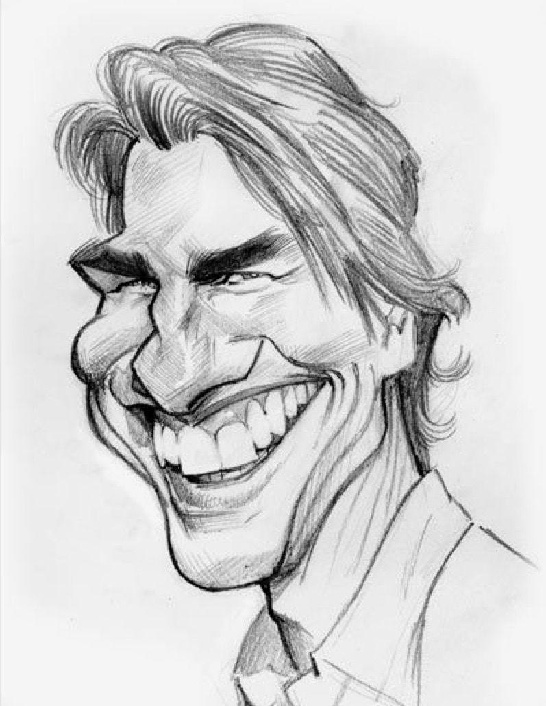 Tom Cruise Disegno Caricatura Caricature Disegni
