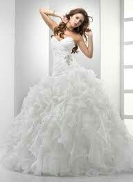 The feather bottom heart neck line very classy wedding dress ...