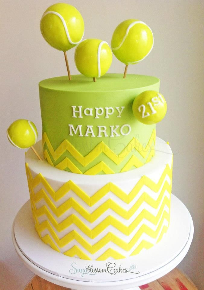 Tennis Cake Sugablossom Cakes For All Your Cake Decorating Supplies Please Visit Craftcompany Co Uk Tennis Cake Chevron Birthday Cakes Sweet Cakes
