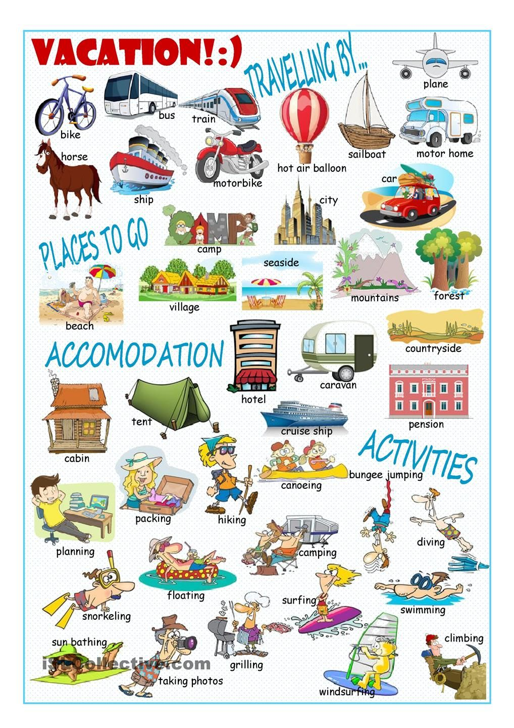 Vacation Picture Dictionary1 ใหม่ Pinterest