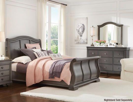 Best Rochelle Grey 3Pc Kg Bedroom Art Van Furniture Bed Design Moving New House Remodel Bedroom 400 x 300