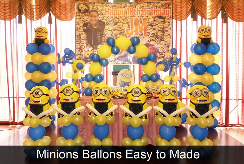 Minions ballons for birthday party You can make it and items you