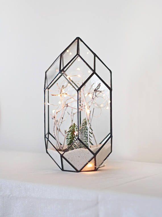 Glass Geometric Terrarium Container Orchid Planter Wedding Card