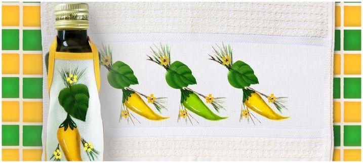 Passo a passo do mês: Pimentas verde e amarelo