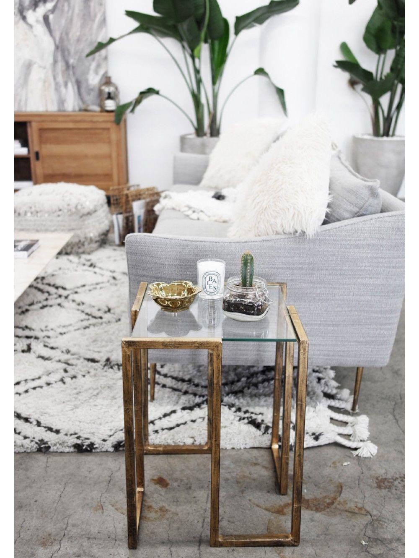 Luken Side Table Gold Living Room Diy Interior Living Room Design Modern