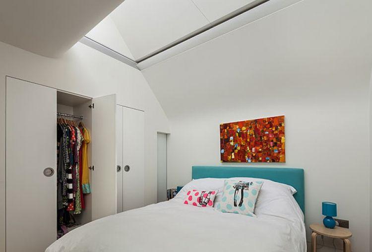 Cube House Luxus und Modernität in London Luxuriöse Schlafzimmer