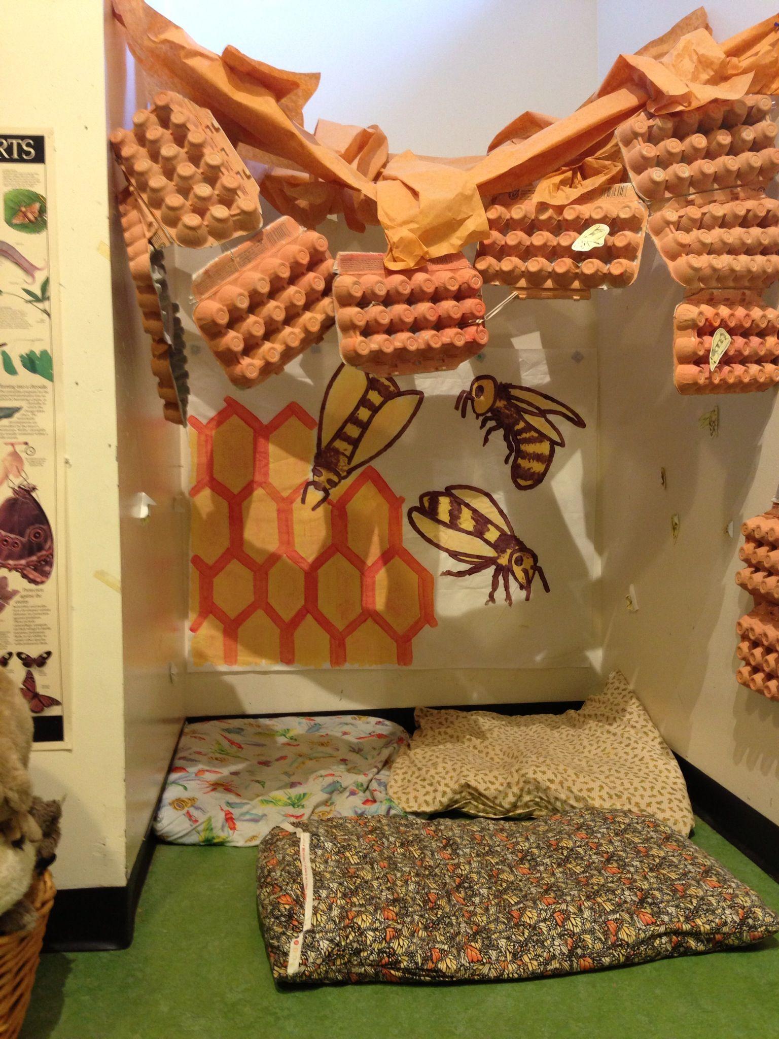 Bee Hive Imaginary Play Corner In Preschool Room At