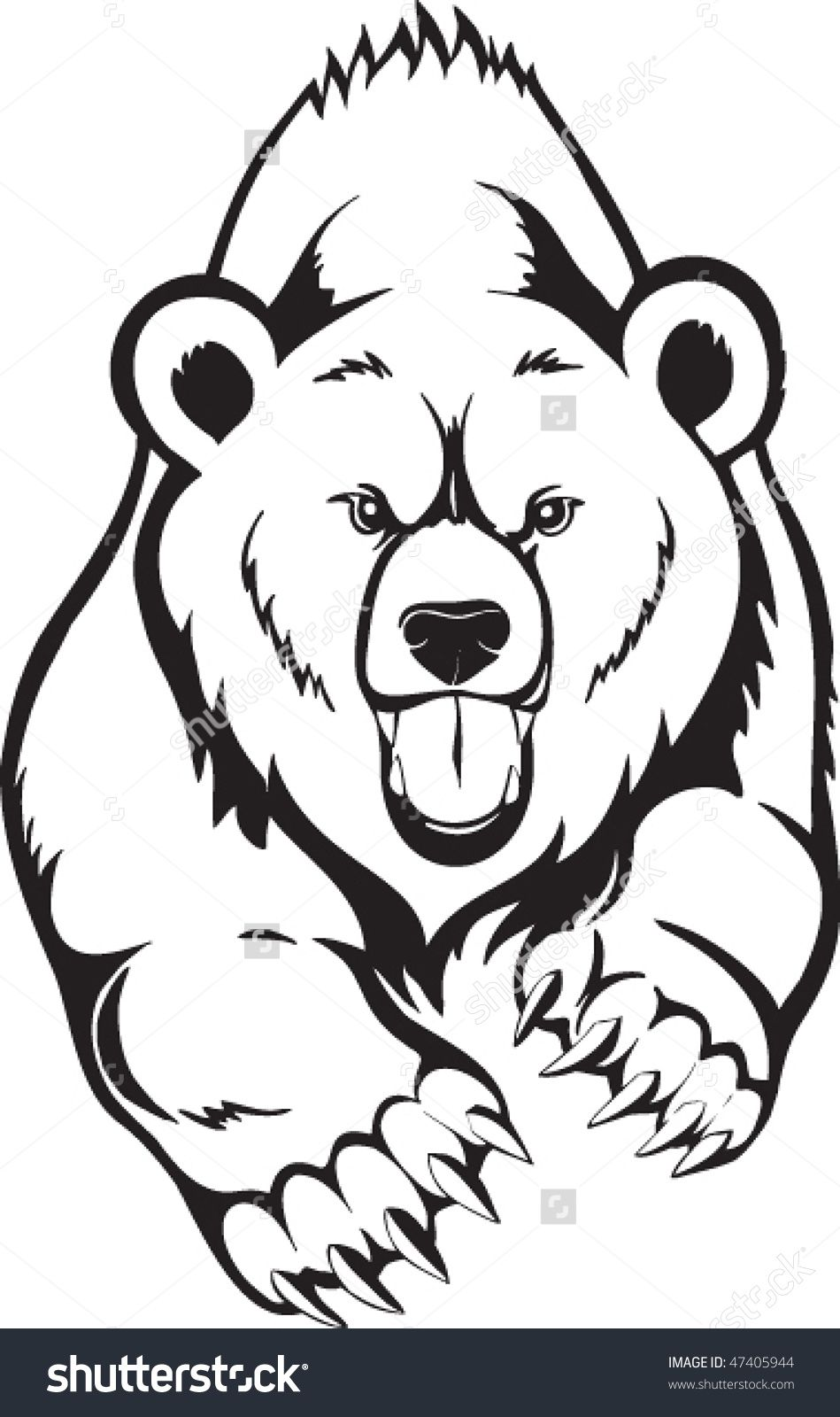 Animal Outlines To Print Wild Animal Coloring Page Kodiak Bear Up Coloring Page Animal Coloring Pages Bear Coloring Pages Animal Outline