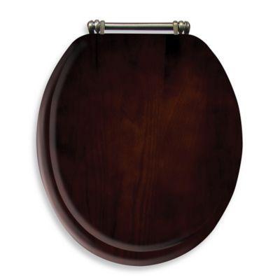 Sensational Buy Ginsey Round Toilet Seat In Espresso Wood From Bed Bath Inzonedesignstudio Interior Chair Design Inzonedesignstudiocom