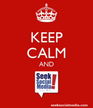 You are going to love this!! TOUCH this image: Keep Calm and Seek Social Media by Carole Billingsley