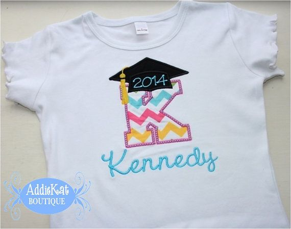 Personalized Preschool or Kindergarten Graduation Shirt on Etsy ... dc680b6315383