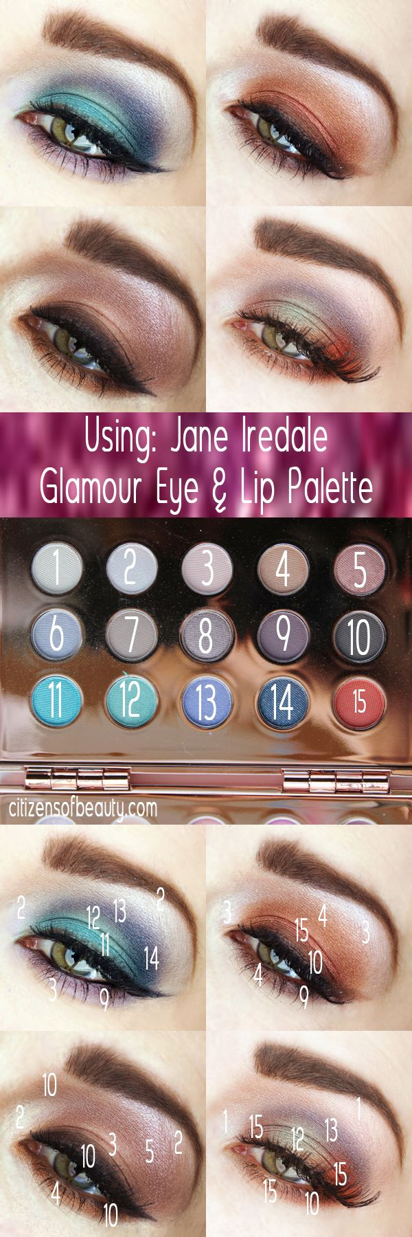 Review Jane Iredale Glamour Eye & Lip Palette Lip
