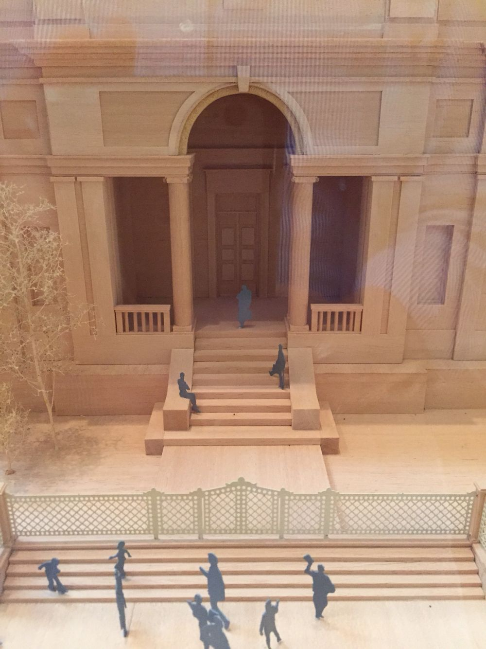 Model of the Morgan Library expansion (~2010).