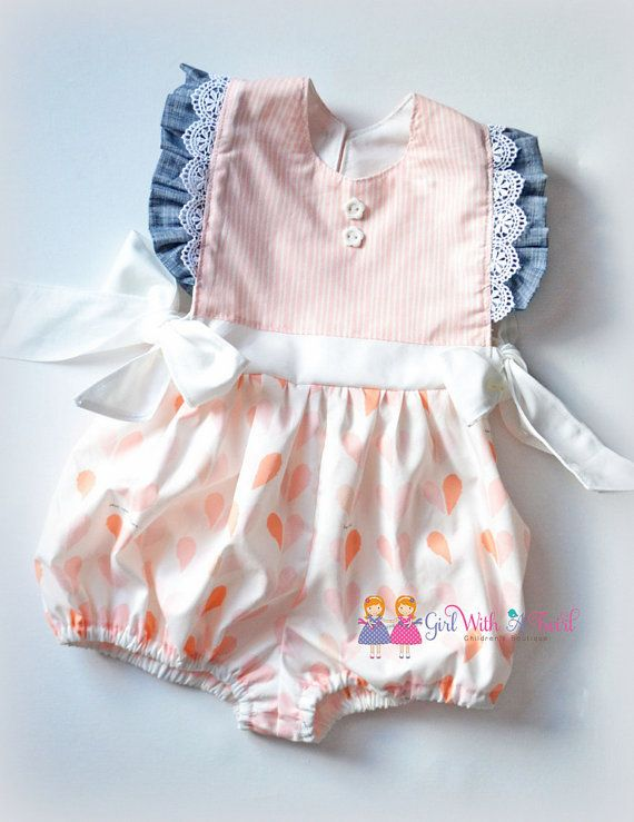 6912b1663983 Baby Girl Outfit Baby Girl Romper 12-18 Month by GirlWithATwirl ...