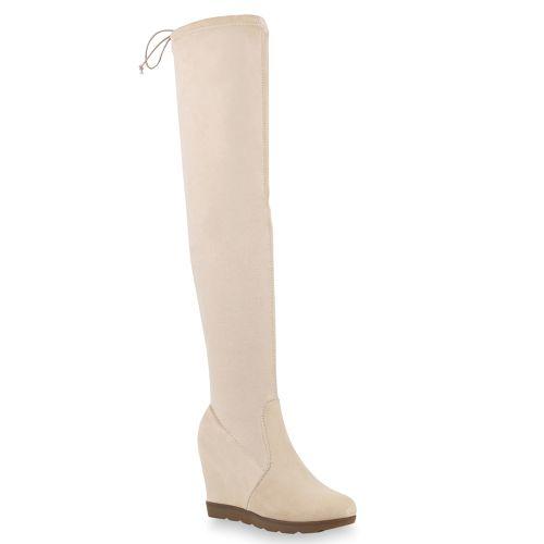 Creme� Overknees Overknees winter Creme� Overknees winter Damen Damen Damen Stiefel Creme� Stiefel Stiefel xWBorCde