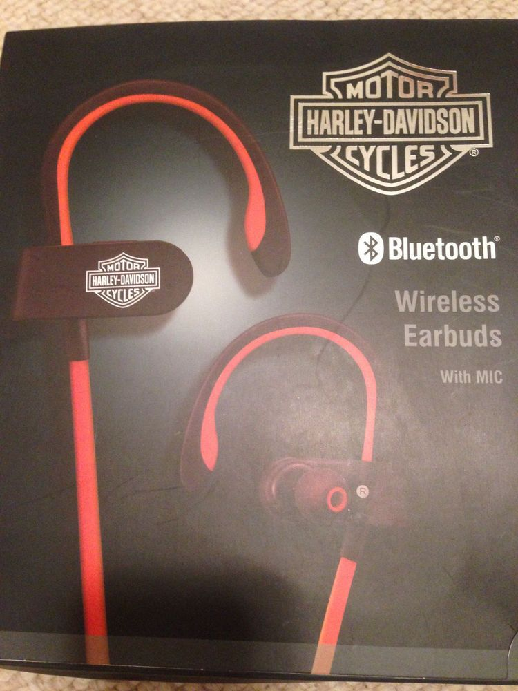 Harley Davidson Mortor Cycles Bluetooth Wireless Earbuds With Mic