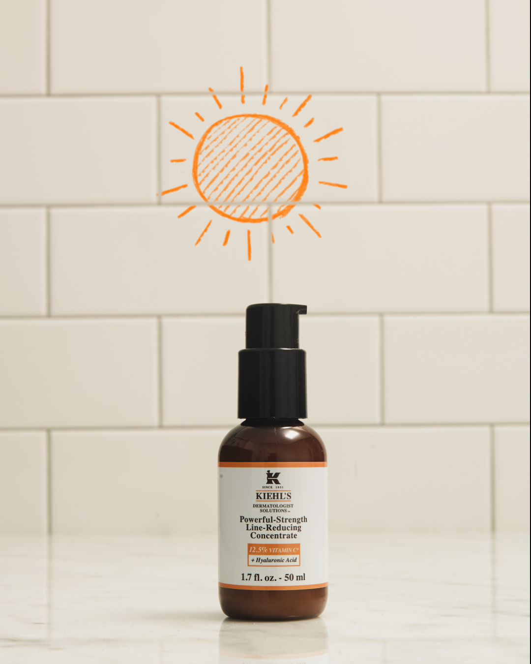 One skincare product for day and night is Kiehl's Powerful-Strength Line-Reducing Concentrate. This facial serum packed with 12.5% Vitamin C and Hyaluronic Acid helps promote healthy skin around the clock.