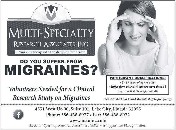 Do you suffer from MIGRAINES? Participants Needed for a Clinical