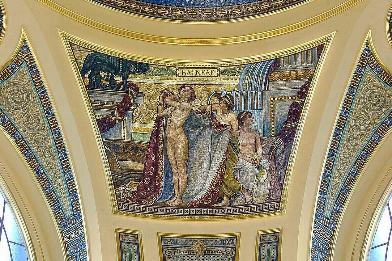 szcechenyi baths mosaic