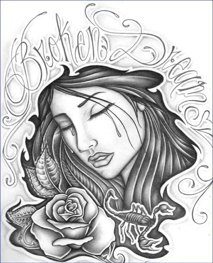 Chola Girl Drawing : chola, drawing, Chola