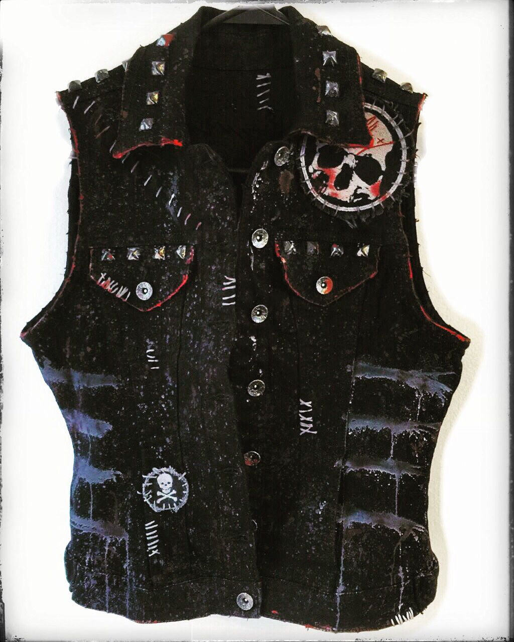Distressed vest from Chad Cherry Clothing. Rocker vest ...