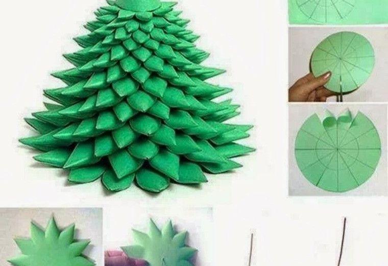 manualidades navidad decoracion arbol papel ideas Pulseras