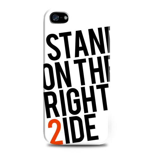 Stand on the right side iPhone 5 case. By Generasi Optimis for Tees. Also available for Samsung and BlackBerry smartphones. http://www.zocko.com/z/JFPYg