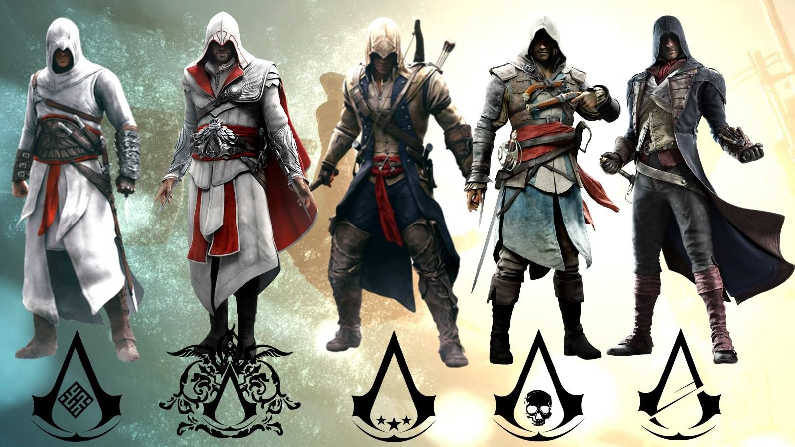 Assassins Altair Ezio Connor Edward Arno Assassins Creed Assasins Creed Assassin S Creed Wallpaper