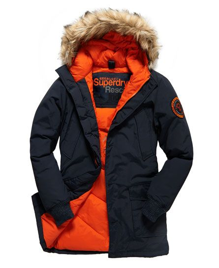 Shop Superdry Mens Everest Coat in Indigo/jaffa. Buy now with free delivery  from the Official Superdry Store.