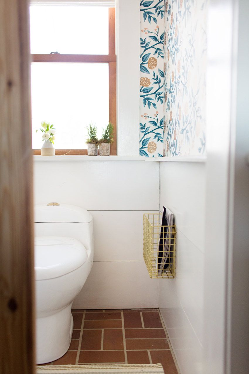 The Newly Updated Powder Room In This Maine Home On Design*Sponge ...