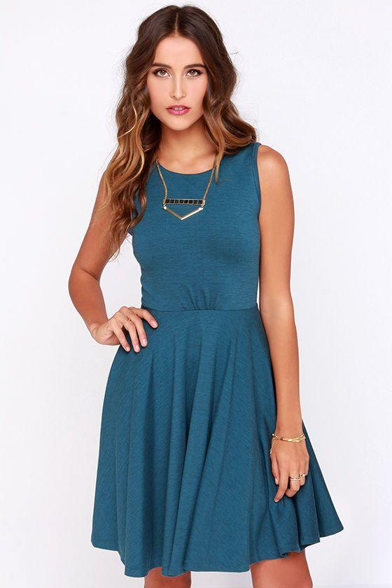 03638d645a592 Safford Teal Blue Skater Dress | DRESSES | Dresses, Skater Dress ...