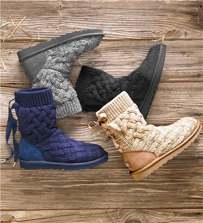 ugg australia isla knit boots boots fall pinterest. Black Bedroom Furniture Sets. Home Design Ideas