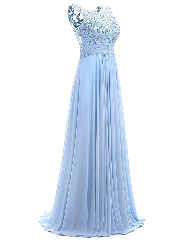 Carnivalprom Damen Chiffon Abendkleider Lange Elegant HochzeitsKleid ...