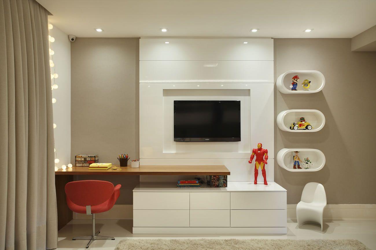 Decor Salteado Blog de Decoração e Arquitetura Casa  ~ Quarto Planejado Tv