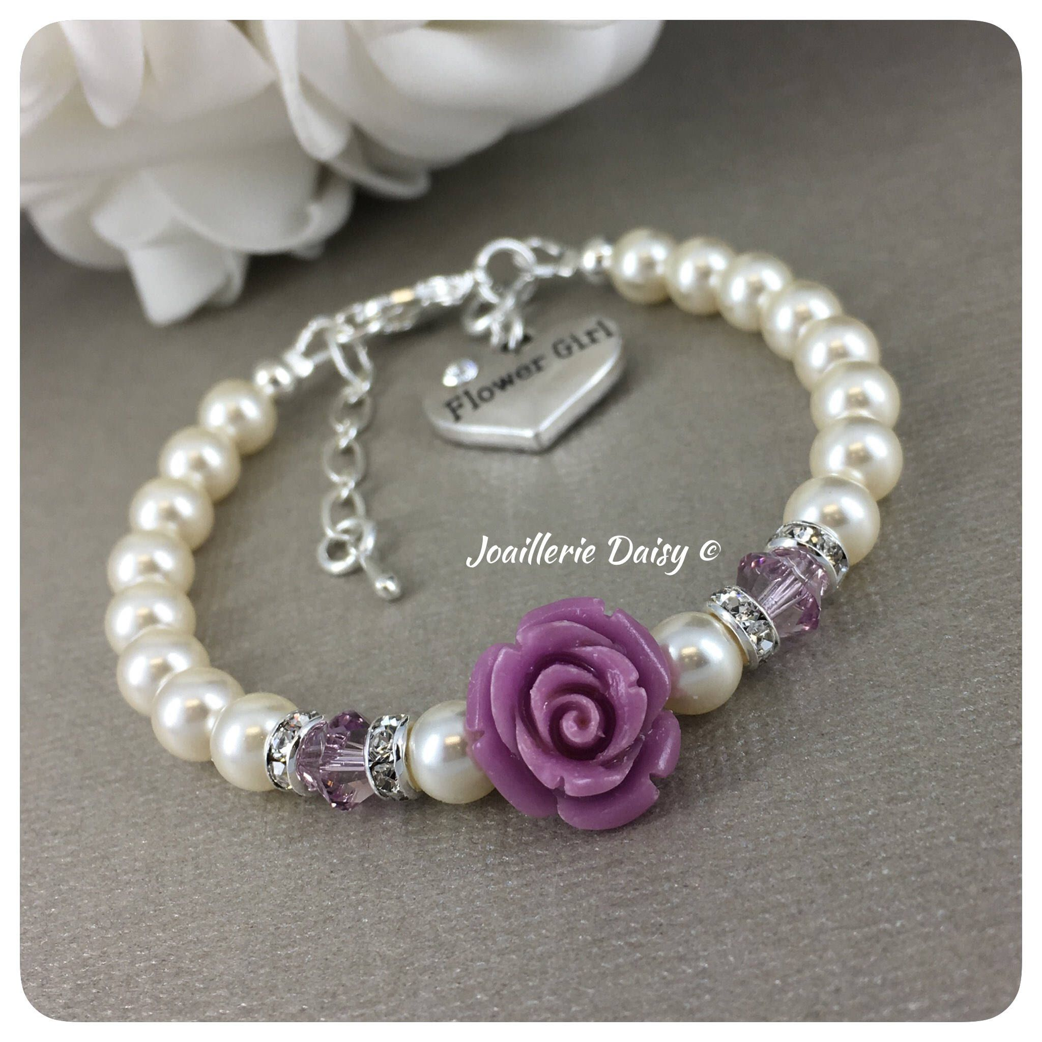 design flowergirl chez girl bracelet silver jen flower products