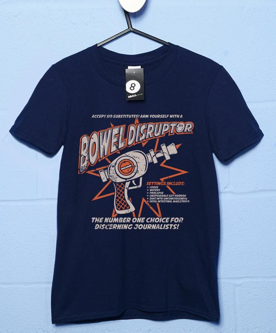 Bowel Disruptor Transmetropolitan Mens T-Shirt - Navy / Medium