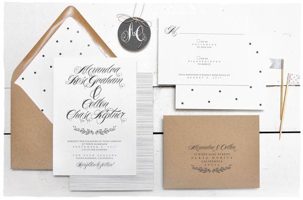elegant black white woodland wreath wedding invitations elegant